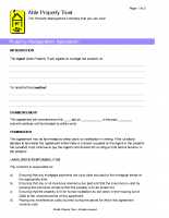 Property Management Agreement Form