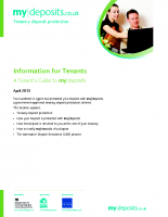 Tenants Deposit Scheme Information for tenants