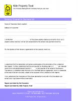 Tenancy Guarantor letter