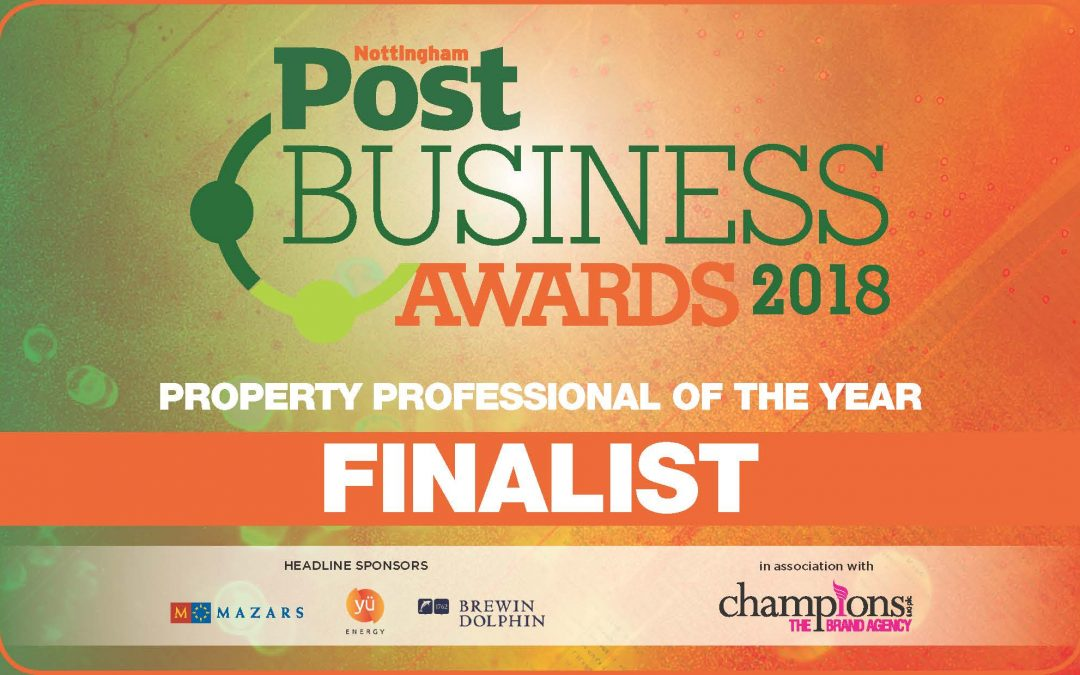 Able Property Trust thrilled to be a finalist for the Nottingham Post Business Awards Property Professional of the Year