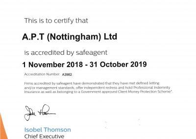 Safe Agent certificate