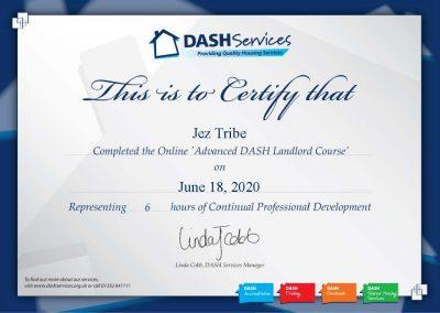 Advanced DASH Landlord Certificate